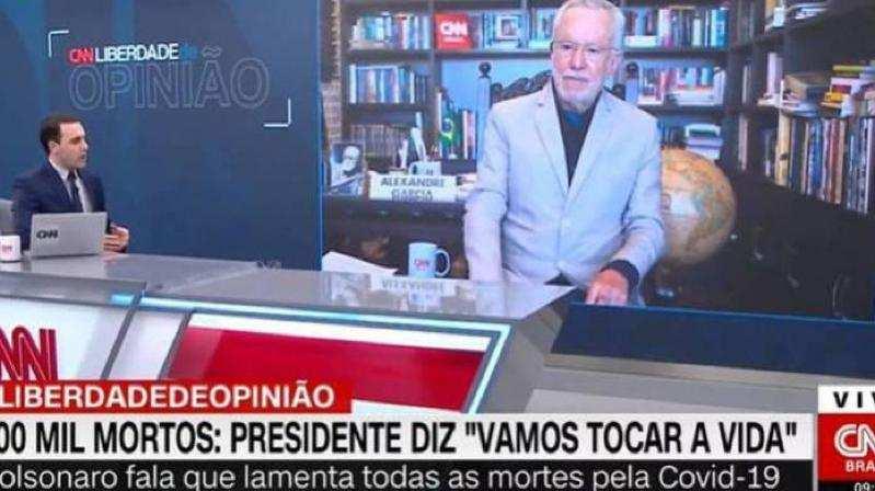 U00c2ncora Da CNN Perde A Paci U00eancia Com Alexandre Garcia Ap U00f3s